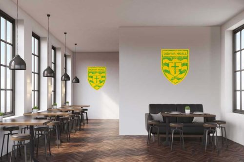 Donegal  Wall Vinyl Distressed Crest design