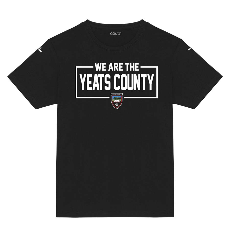 Sligo Kids Black T-Shirt We Are The Yeats County design