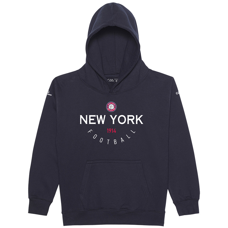 New York Kids  New French Navy Hoodie Collegiate Football design