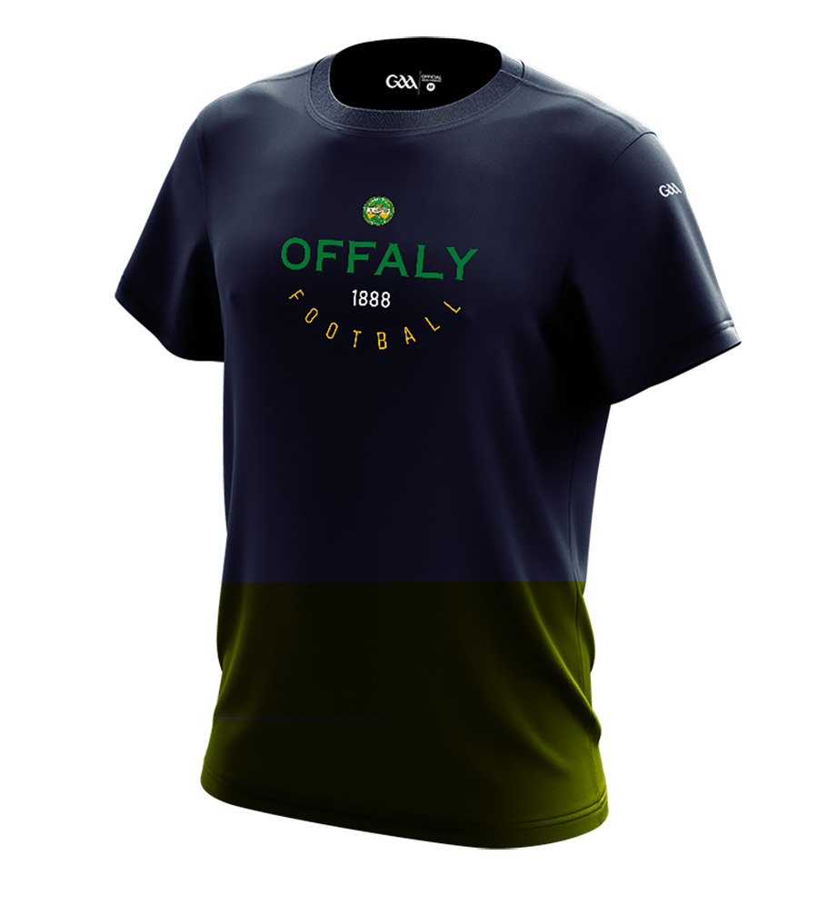 Offaly Mens  French Navy T-Shirt Collegiate Football design