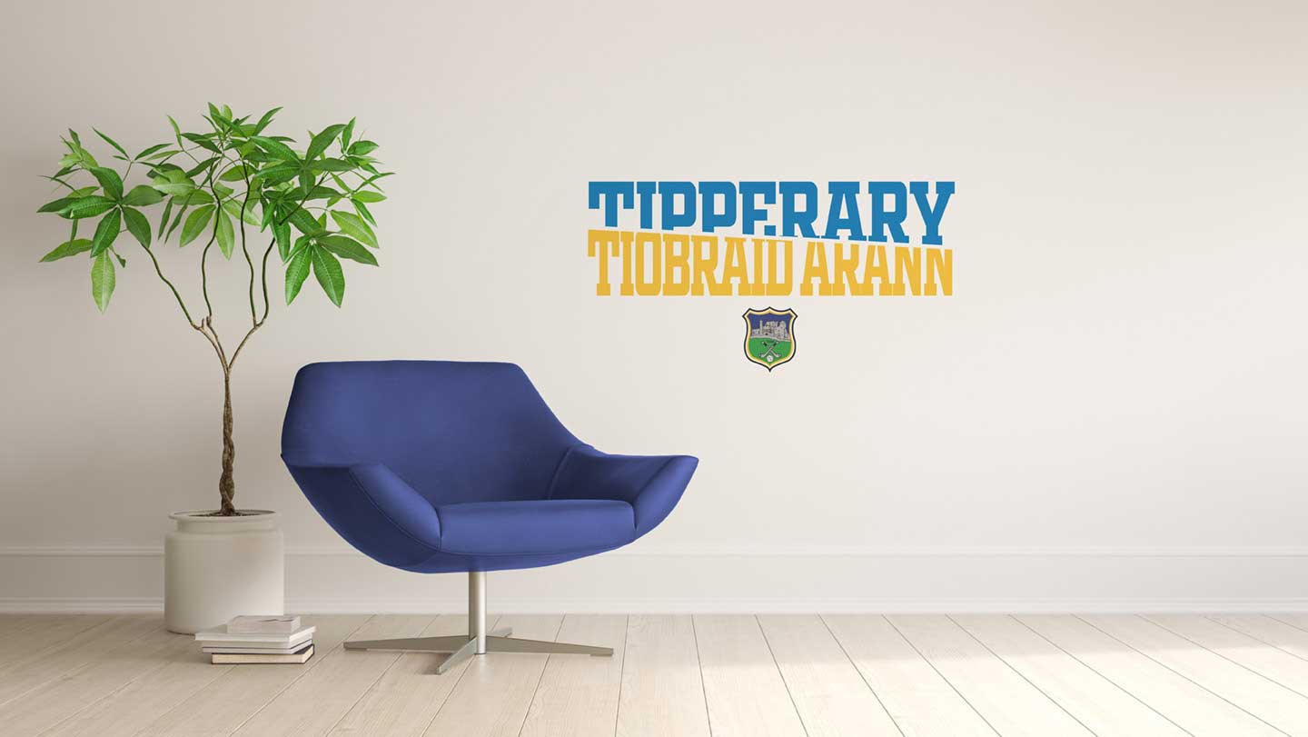Tipperary Wall Vinyl Sliced County Name design