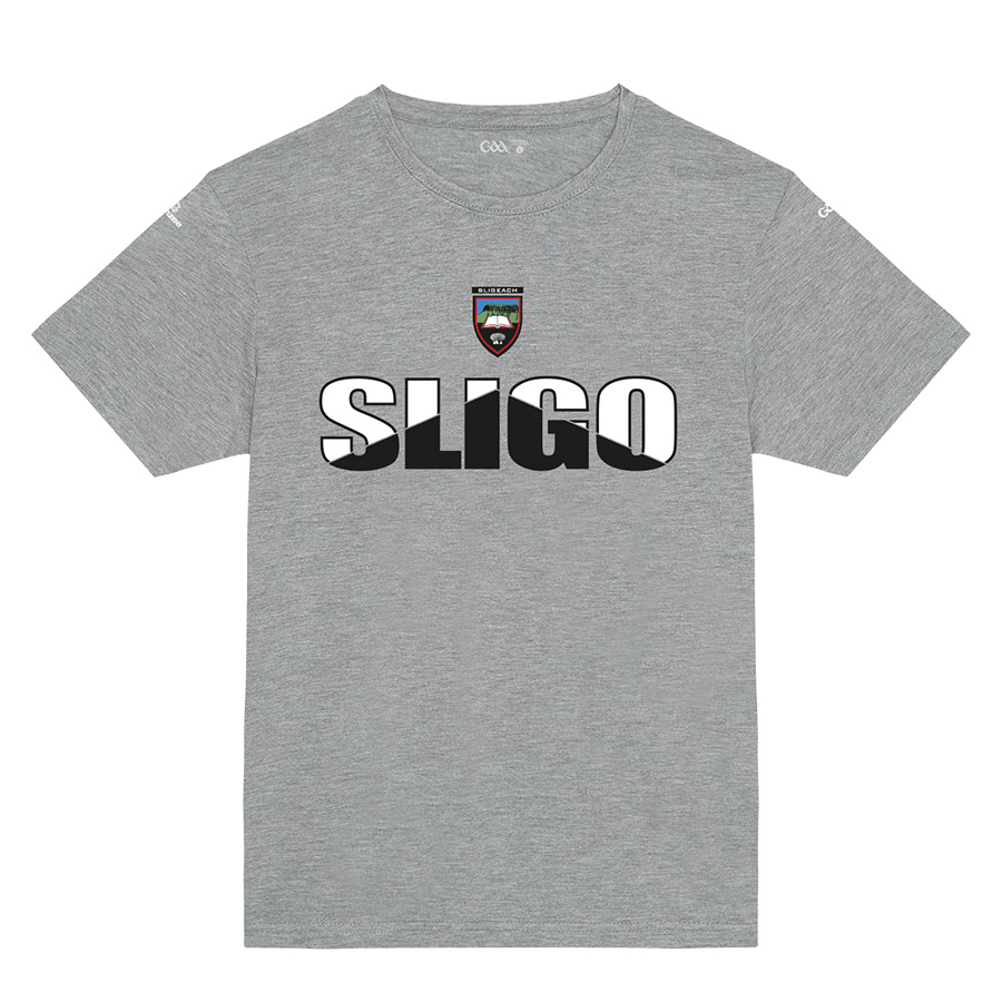 Sligo Kids Heather Grey T-Shirt Arrow Up design