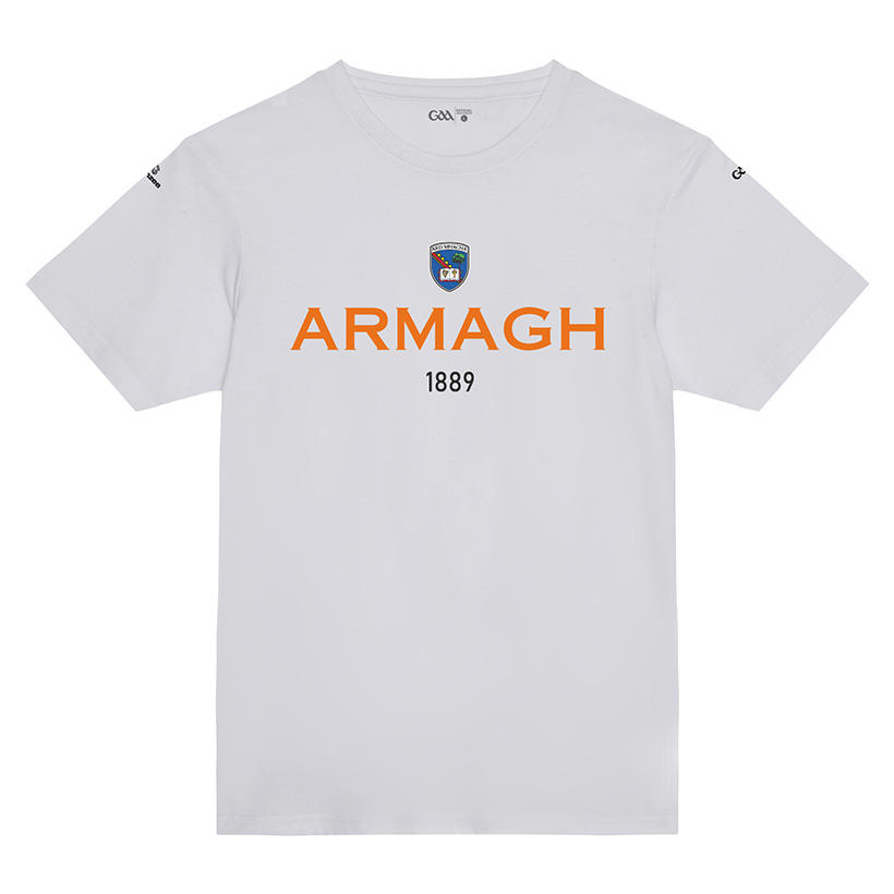 Armagh Kids  Solid White T-Shirt  Collegiate Date design