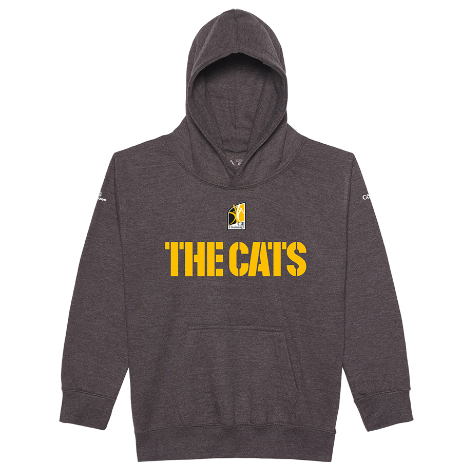 Kilkenny Kids Charcoal   Hoodie  The Cats design